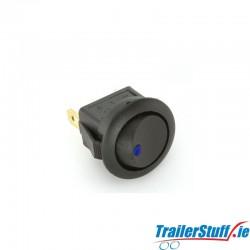 Blue Illuminated Mini Rocker Switch