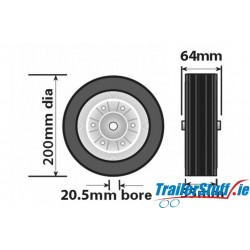 200MM jockey wheel replacement wheel