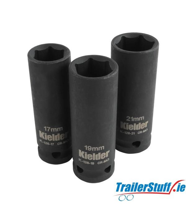 "1/2"" DEEP IMPACT SOCKET SET (3PC) KWT-126-01"