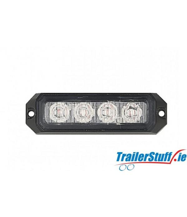 AMBER LED STROBE 12/24V 12W