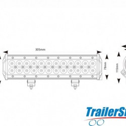 305mm LED LIGHT BAR 12/24V SPOT/FLOOD COMBO