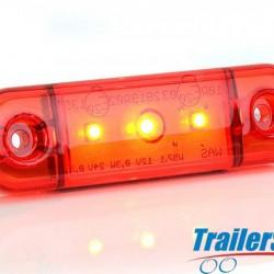 WAS red Flush 3 LED Marker