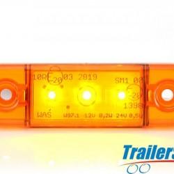 WAS Amber Flush 3 LED Marker