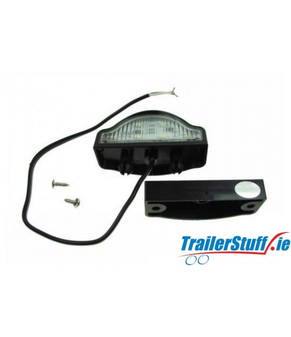 10-30V LED NUMBERPLATE LAMP + CABLE & CLIP-BAS...