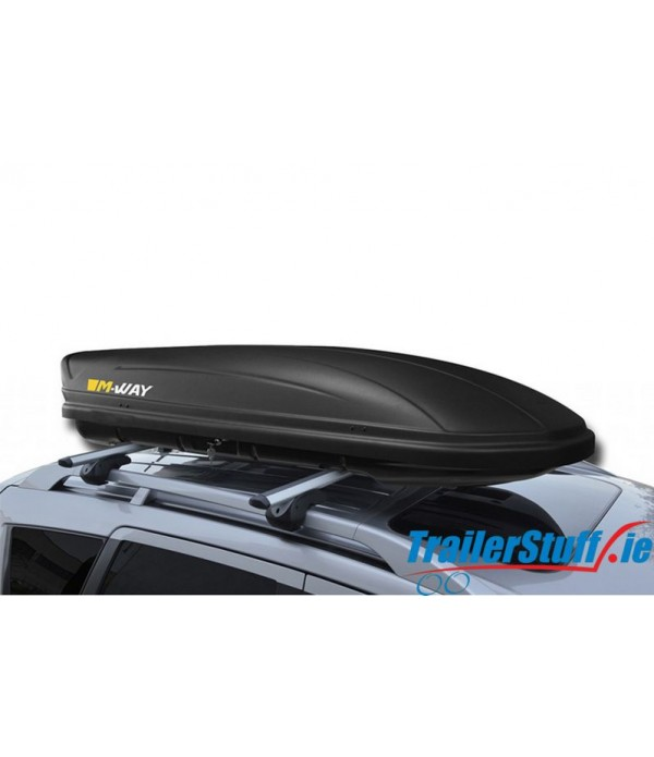 MW5400 MWAY VENOM 400 DARK - 400L BLACK ROOF BOX