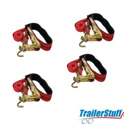 4 x Over Circumference Wheel Lashing Straps **FREE CARRIAGE online only**