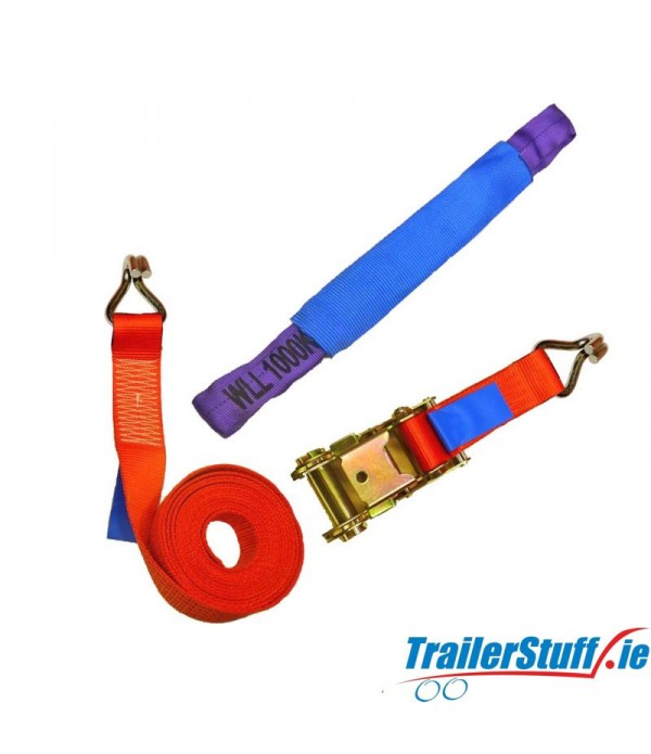 CAR TRANSPORTER LASHING STRAP