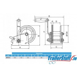 Standard Handwinch 320/545kg