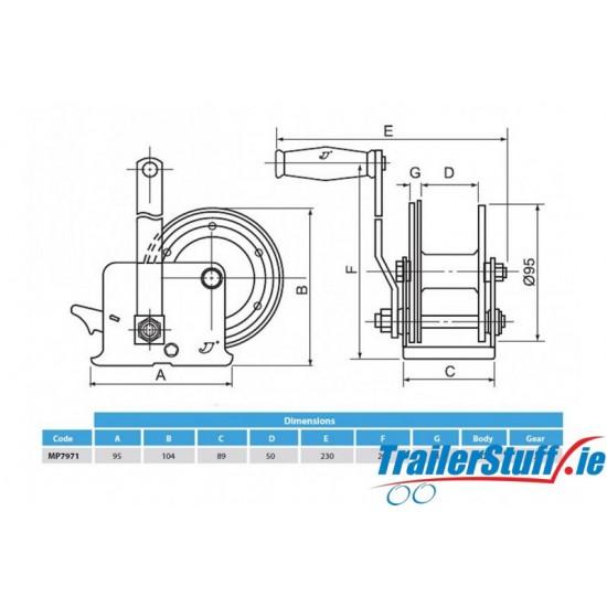 Standard Handwinch 250/385kg