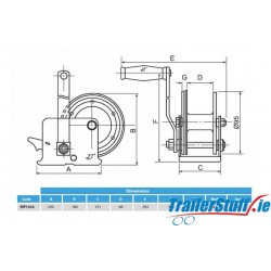 Professional Handwinch 750/1,454kg