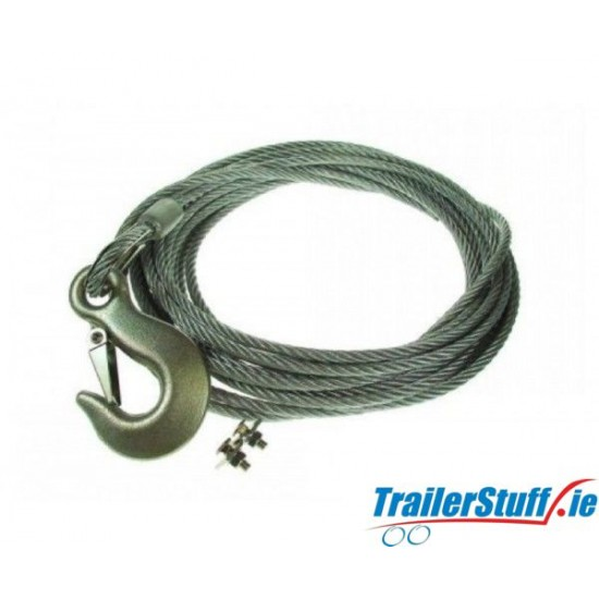 Winch cable 6mm. X 8m