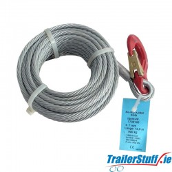 AL-KO Winch Cable 12.5m 7mm 900kg