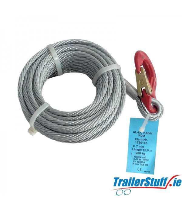 ALKO Winch Cable 12.5m 7mm 900kg